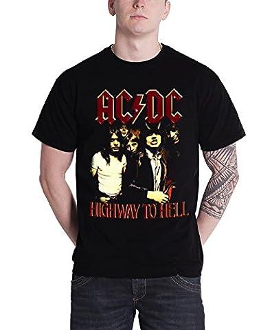 AC/DC T Shirt Highway To Hell band logo angus Nue offiziell Herren Schwarz