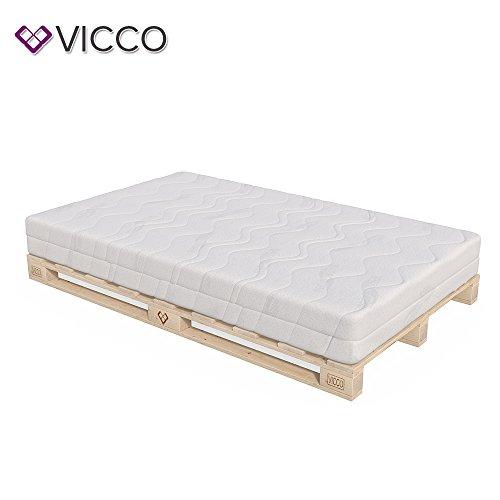 VICCO Palettenbett Bett Holz Massivholzbett 90 100 120 140 160 180 200 x 200cm, Palettenmöbel MADE IN GERMANY
