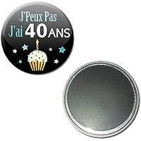 j' Peux pas j' ai 40 Ans Magnet Aimant 5,6 centimètres Idée Cadeau Accessoire Humour Anniversaire Birthday Excuse