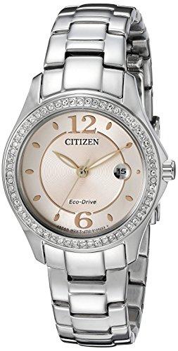 Citizen Eco-Drive Femme Fe1140–86x Silhouette Cristal Montre
