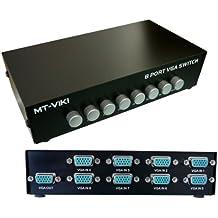 Kalea-Informatique–Scatola di condivisione vga/Switch Video 8+ 1porte–Contenitore Metallo–8ingressi verso 1uscita o 1ingresso verso 8uscite
