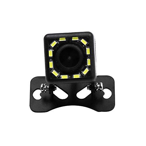 QWERDF Rückfahrkamera 170 ° Betrachtungswinkel, 12-V-Auto-Rückfahrkamera, 12 helle LED-Nachtsichtkamera, Sicherheits-Lochkamera