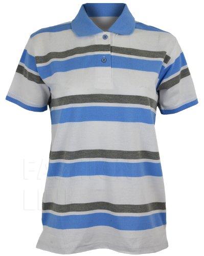 Flirty Wardrobe T-Shirt Polo Shirt à rayures Bleu