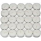 Saubhagya Global White Unscented Smokeless Wax Tea Light Candle Pack Of 50 Pcs