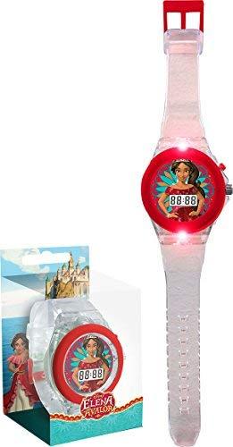 Andros Ein Licht (Disney Elena von Avalor wd17970Armbanduhr Digital, Armband transparent, Licht LED)
