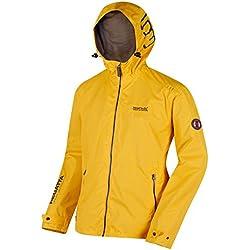 Regatta Mackson Impermeable Para Hombre Color Amarillo Tamaño Large