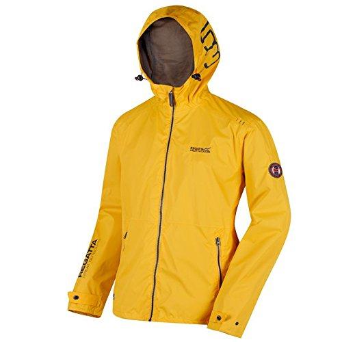 Impermeable amarillo para hombre con capucha