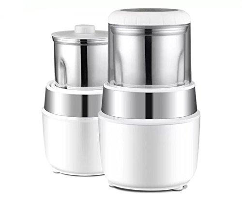GXSCE Elektrische Kaffeemühle, kleine Kaffeemühle, Edelstahl Kaffeemühle, Einstellbare Kaffeemühle, Espresso Kaffeebohne Grinder, Einstellbare Salz Pfeffermühle Grinds Bohnen Gewürze Gebürstet