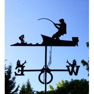 Wetterfahne Angler groß 67 x 89 cm