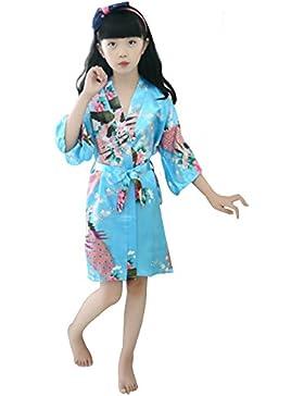 Sunny Fashion Vestido para niña De Halloween Manto Negro Leopard Con capucha 7-14 años