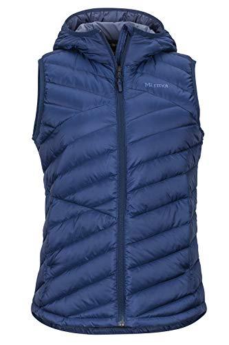 Marmot Damen Wm's Highlander Hoody Vest Ultra-leichte Daunenweste, 700 Fill-Power, Warme Outdoorweste, Wasserabweisend, Winddicht, Arctic Navy, XL -