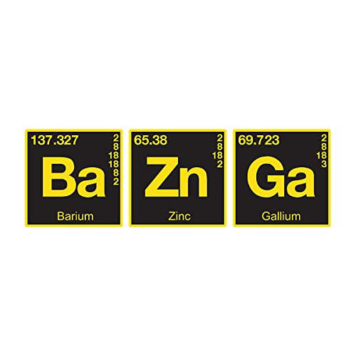 Bazinga Chemical Symbols Big Bang Threory Women's Sweatshirt white