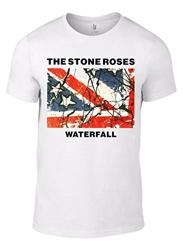 Men's The Stone Roses Waterfall 1992 Single T-shirt, White - S to XL