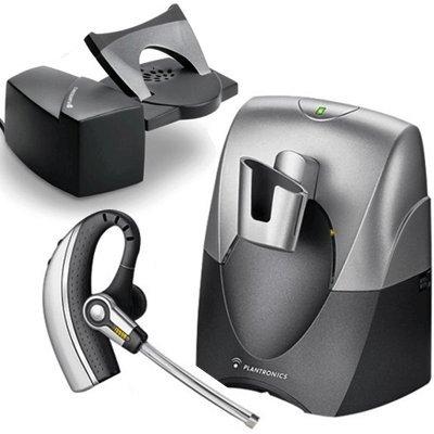 Plantronics CS70Wireless Office Earset System-Wireless Konnektivität-Mobile Headset (Lithium-Ionen (Li-Ion), Silber, monaural, kabellos, Neodym, 4-44°C) Office Wireless Earset