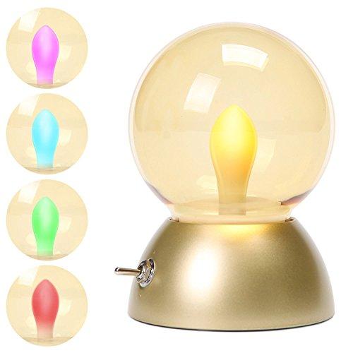 Di & mi mini retro vintage luce notturna led lampada da tavolo vintage pere con cavo di ricarica usb gold