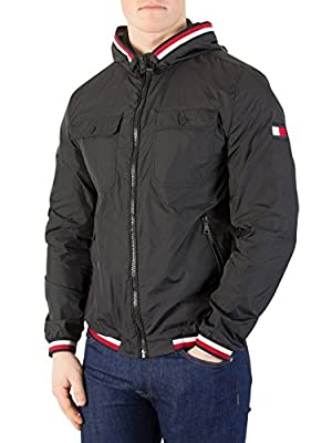Tommy Hilfiger Men's Hooded Nylon Tape Jacket from Tommy Hilfiger