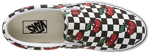 Vans U Classic Slip-On Cherry Checkers, Sneakers, Unisex Multicolore (Cherry Checkers/Black/True White)