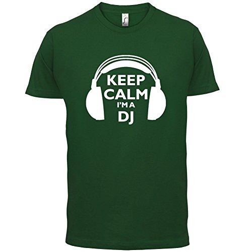 Keep Calm I'm A DJ - Herren T-Shirt - 13 Farben Flaschengrün