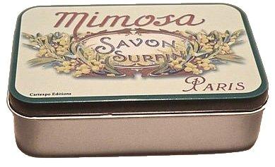 'Boîte à savon Petite Rétro Métal Boîtes Mimosa \\