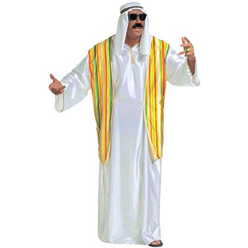 Scheich Kostüm Araber Scheichkostüm weiß XL (54) Orient Araberkostüm Herren Orientkostüm Sultan Faschingskostüm Kalif Ölscheich Tuareg Beduine Selim Arabisches Karnevalskostüm 1001 Nacht Mottoparty Verkleidung Karneval Kostüme (Kostüm Beduinen Kostüm)