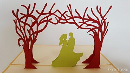 Hochzeit Karte blanko Version 3D Pop up Grußkarten Jahrestag Baby Geburtstag Ostern Halloween Mutter Vater New Home NEW YEAR Thanksgiving Valentine Hochzeit Weihnachten