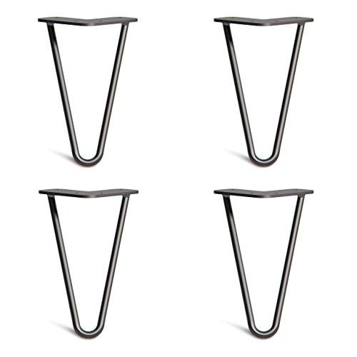 4x Haarnadel Tischbeine Austauschbare Tisch&Schrank Beine für Heimwerker - Mitte des Jahrhunderts Modern Stil - Verfügbar in Höhe von 10cm-86cm - Freie Bodenschoner und Schrauben -