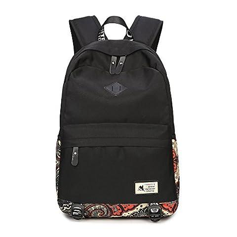 Mädchen Jugendliche Schultasche Fashion Casual Vintage Rucksack Unisex Wasserdicht EXTRA Groß Schulrucksack Reisetasche für 15.6 Zoll Laptop