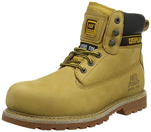 caterpillar cat holton botas de trabajo hombre, beige (honey 002), 43 eu (9 uk)