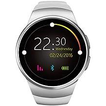 FAY Reloj Inteligente Bluetooth Call Ritmo cardíaco Pedómetro Apoyo Tarjeta SIM TF Deportes Reloj Digital analógico