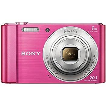 Sony DSC-W810 Digitalkamera (20,1 Megapixel, 6x optischer Zoom (12x digital), 6,8 cm (2,7 Zoll) LC-Display, 26mm Weitwinkelobjektiv, SteadyShot) pink