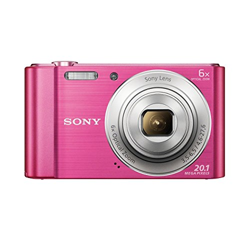 Sony DSC-W810 Digitalkamera (20,1 Megapixel, 6x optischer Zoom (12x digital), 6,8 cm (2,7 Zoll) LC-Display, 26mm Weitwinkelobjektiv, SteadyShot) pink (Digital-kamera-hd Sony)