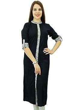 Phagun Kurti étnico Mujeres Rayón Kurta impresión sólida diseñador del vestido ocasional