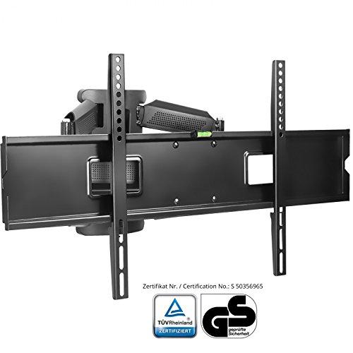 XOMAX ® XM-WH109 TV Wandhalterung + Doppelarm Wandhalter für Plasma LCD LED TFT Fernseher / Monitor + VESA Standard 800x 400, 600x400 400x400 400x200 200x200 200x100 100x100 + 42 46 47 48 50 52 55 58 60 65 70 Zoll + Wandabstand ca. 7 - 47 cm + verstellbar, neigbar, schwenkbar, ausziehbar + Universal: passend für fast alle TV-Hersteller + Tragfähigkeit bis max. 45 Kg + Stahl / Metall + schwarz