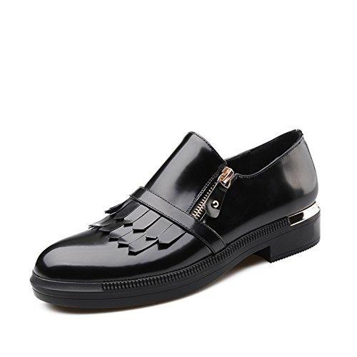 Chaussures de dames de printemps/De rotule avec mocassins tassel/Chaussures de l'étudiant A