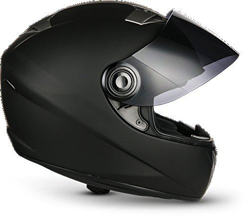 SOXON ST-550 Fighter · Integral-Helm Scooter-Helm Urban Motorrad-Helm Roller-Helm Cruiser Sport Helmet Sturz-Helm · ECE zertifiziert · inkl. Sonnenvisier · inkl. Stofftragetasche · Schwarz · XS (53-54cm) - 8