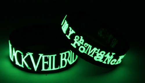 BLACK VEIL BRIDES MY CHEMICAL ROMANCE-Glow in the Dark-Bracciale B7M7