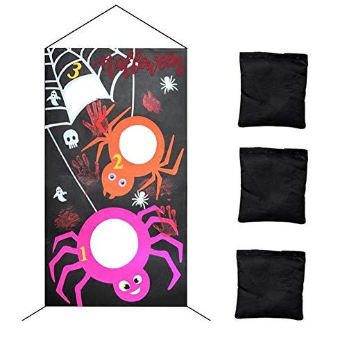 WUYANSE Halloween Sitzsack Werfen Spiele Sitzsäcke Werfen Sandsäcke Party Halloween Dekoration