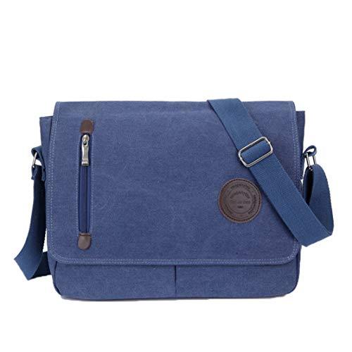 (Menran Jungs Casual Umhängetasche CanvasSchultertasche Trends Messenger Bag College-Stil Kuriertaschen Wasserdicht Crossbody Tasche (Grau))