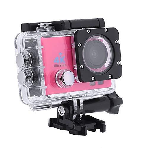 Action-Kameras, 4K DVR Portable 2,0 Zoll LCD 720P Wasserdichte Sportkameras mit Kleinen Box_Red -