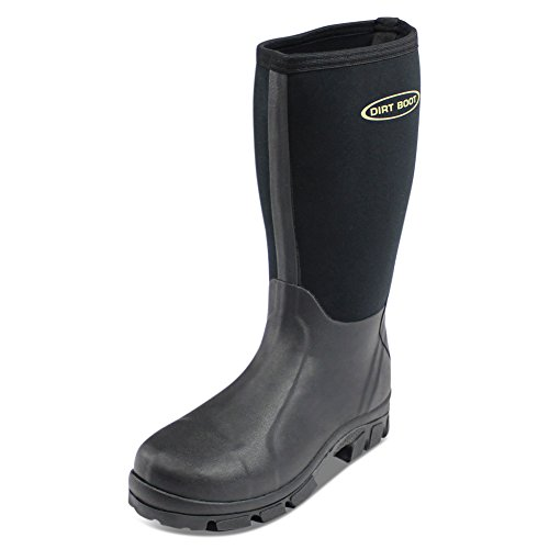 DIRT BOOT NEOPRENE WELLINGTON MUCK FIELD FISHING BOOTS WELLIES (Size 7 (41))