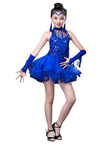 besbomig Moda Lustrino Nappa Vestito da Ballo Latino Salsa Tango Bambini  Dancewear - Ragazze Ballroom Festa ef9c13377ca