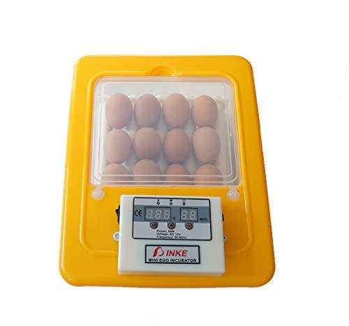 JAKROO (16 Uova) Dispositivo Automatico per l\'alimentazione del Pollo da incubatore Digitale di incubatrice Rotante dell\'incubatore,Yellow