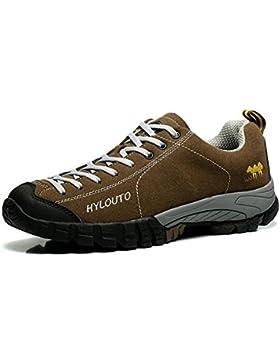 Scarpe da passeggio in pelle scamosciata scarpe sportive all'aperto in primavera e in autunno leggero e confortevole...