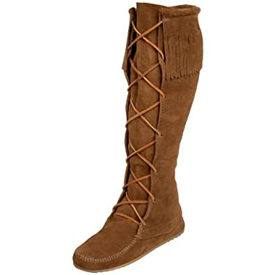 Minnetonka Front Knee Hi, Bottes Indiennes femme, Marron (Dusty Brown), 35 EU