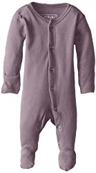Lovedbaby Unisex-Baby Organic Cotton Footed Overall, Lavender, Newborn (up to 7 lbs.)