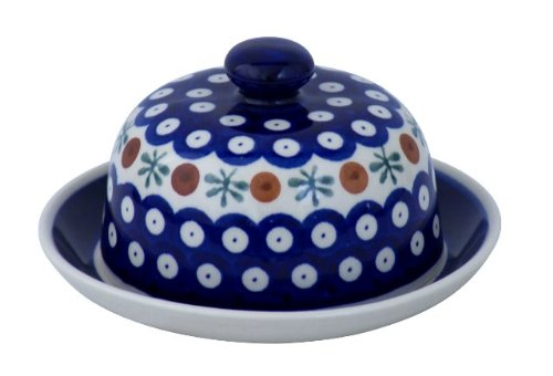 Original Boleslawiec Small Cheese Cover in the Decor 41 – GU-742/41
