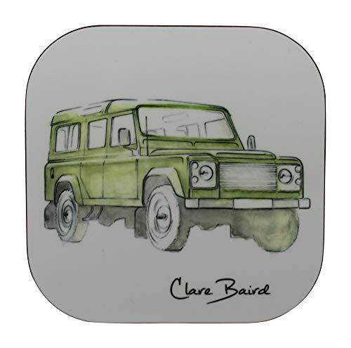 Clare Baird Untersetzer, Motiv: Land Rover, klassisch, Grün