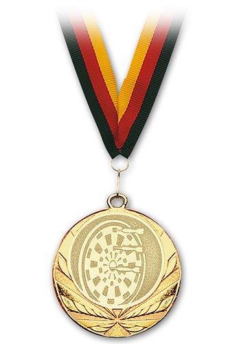 Empire Dart Medaille Dartscheibe Gold mit Band