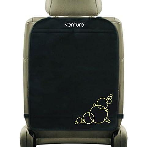Venture Premium–Alfombrillas para asiento de coche (negro, Paquete de 2)