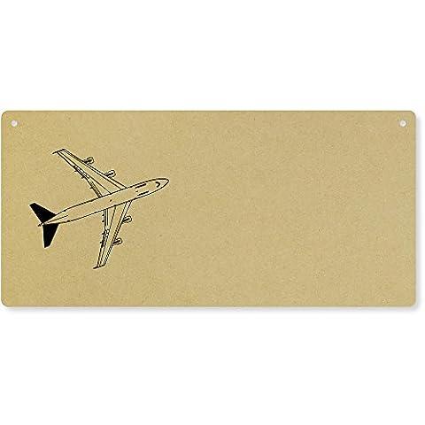 'Jumbo Jet' Large Wooden Wall Plaque / Door Sign (DP00011619)